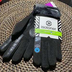 Isotoner active microluxe black smartouch gloves